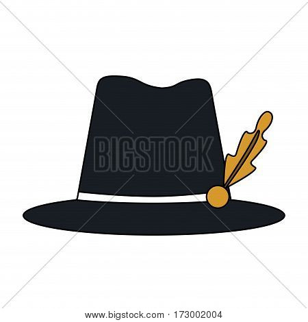 tyrolean hat german culture icon image vector illustration design
