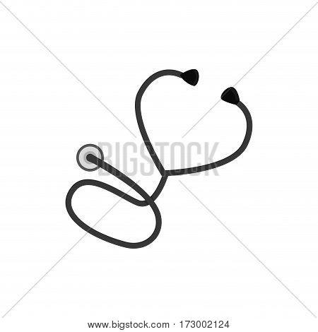 Medical stethoscope symbol icon vector illustration graphic design