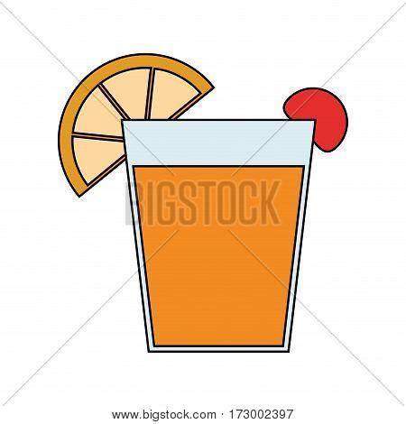 garnished cocktail drink icon image vector illustration design