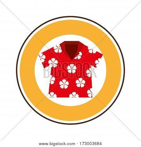beach shirt tropical icon vector illustration design