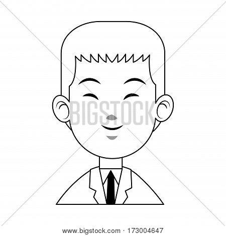happy east asian man icon image vector illustration design