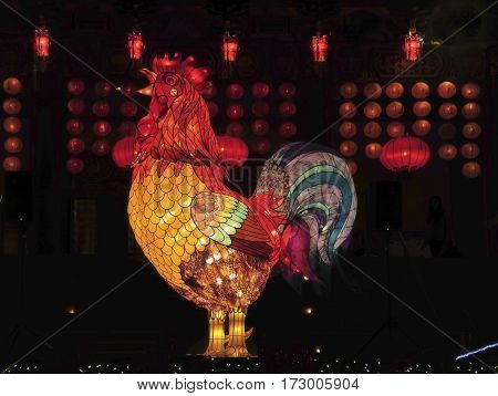 This is a photo of a chicken statue.
