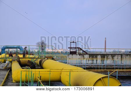 Industrial Space With Lots Of Pipes And Communications