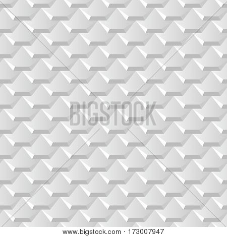 White background with seamless pattern of hexagonal tiles overlayed like fish scales