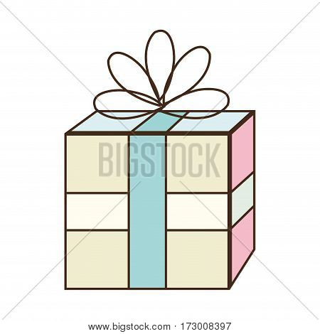 giftbox party celebration icon vector illustration design