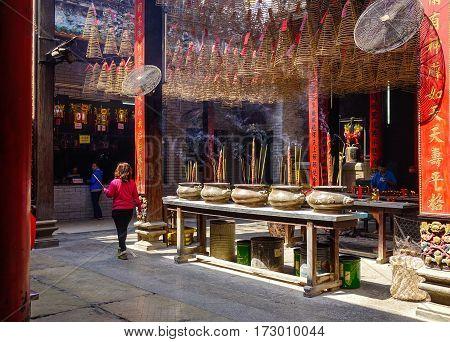 Jade Emperor Temple In Saigon, Vietnam