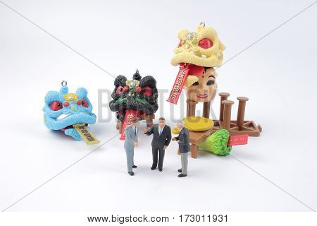 Business Man Figure At Lunar New Year