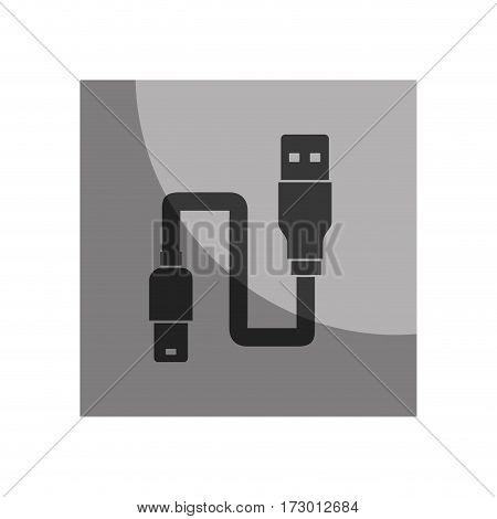 usb wire cable connection vector illustration design