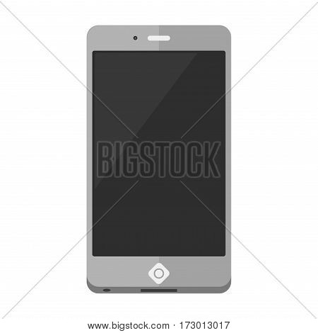 Mobile phone icon vector connection receiver isolated. Classic technology support symbol equipment. Communication call contact device.