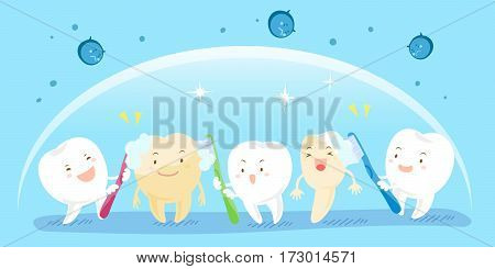 cute cartoon tooth for your health concept