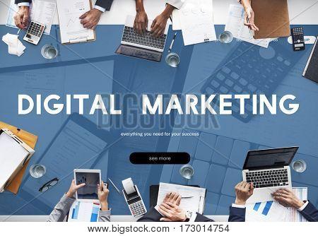 Digital Marketing Advertising Commercial Word