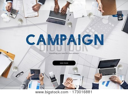 Campaign Commercial Branding Online Word
