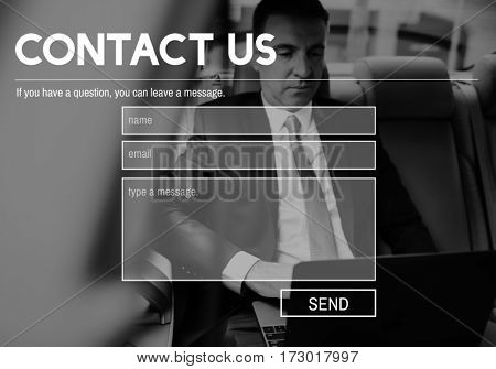 User Account Contact Us Interface