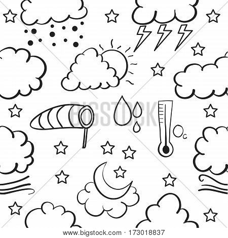 Doodle of weather set collection stock vector art