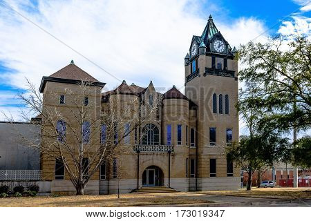Prattville Alabama USA - January 28 2017: Original Autuaga County Courthouse in Prattville Alabama.