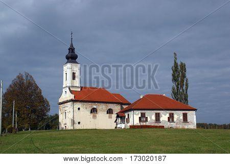 BUCICA, CROATIA - JULY 19: Parish Church of Saint Anthony of Padua in Bucica, Croatia on July 19, 2016