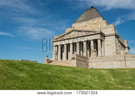 Shrine of remembrance the world war I & II memorial place in Melbourne, Australia.