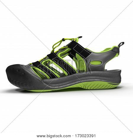 Outdoor summer sandal isolated on white background. Top view. 3D illustration