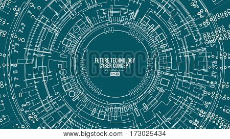 Abstract Futuristic Technological Background Vector. Hi Speed Digital Design. Security Backdrop