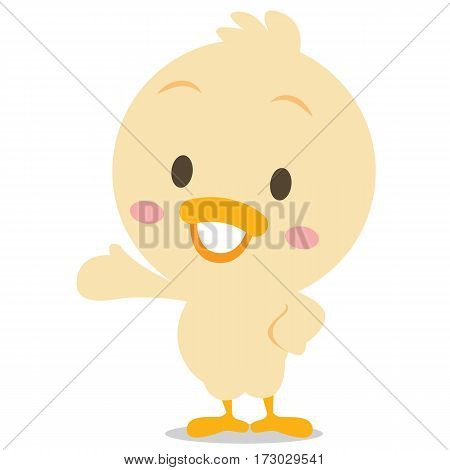 Happy duck character vector illustration collection stock