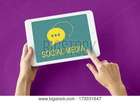 Social Media Global Communications Networking Speech Bubble