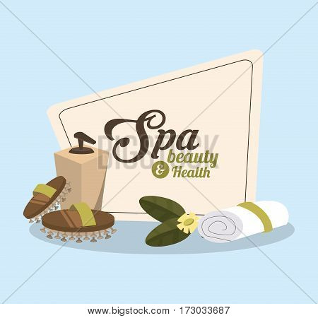 towel roll spa beauty related icons image vector illustration design