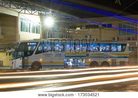 Bus Of Sombattour Company. Route Bangkok And Chiangmai