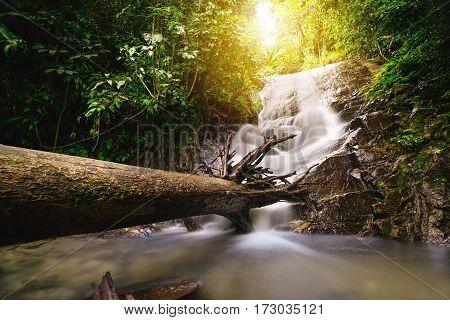 Beautiful landscape waterfall in Chiang Mai, Thailand