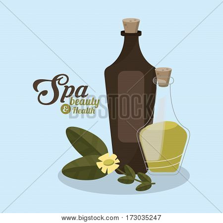 aromatic plants and spa beauty related icons image vector illustration design