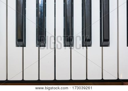 Close up image of electric piano keyboard