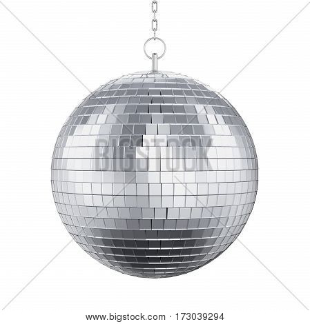 Disco Ball isolated on white background. 3D render