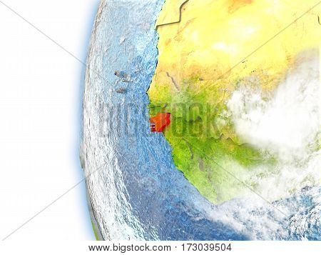 Guinea-bissau On Model Of Earth