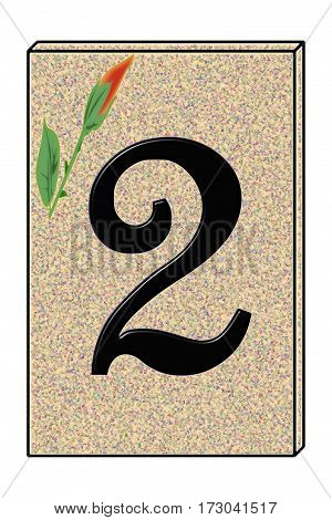 a graphic representing the number2 street number