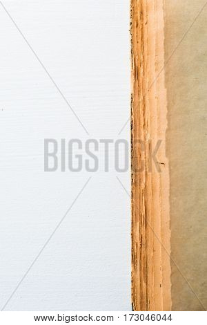 yellow old book texture on white background