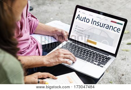 Auto Insurance Vehicle Protection Concept