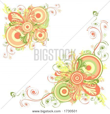 Floral Abstract Background Designer Ornamental Art 3
