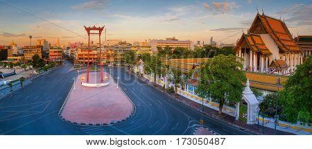 Bangkok Red swing The icon of Bangkok city in Bangkok Thailand
