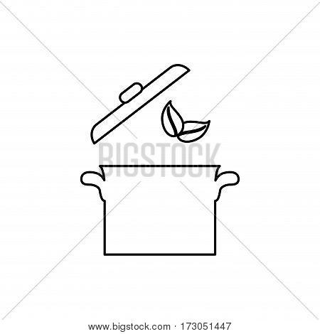 Saucepan kitchen cookware icon vector illustration graphic design