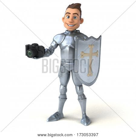 Fun knight - 3D Illustration