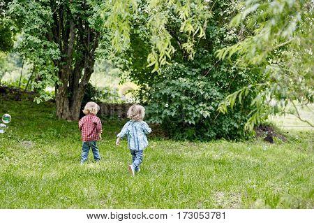 A Little Boys Run Away