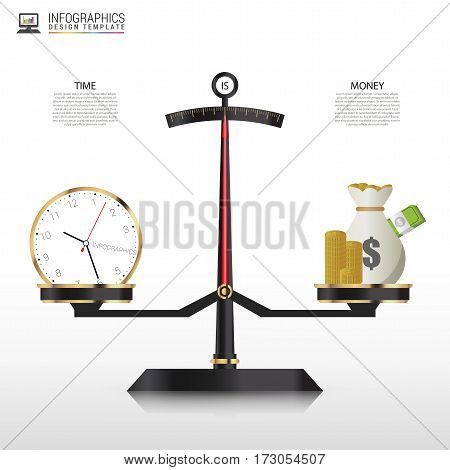 Business golden style price scale Infographics template. Vector illustration