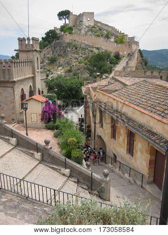 Castle At Jativa, Valencia Y Murcia, Spain