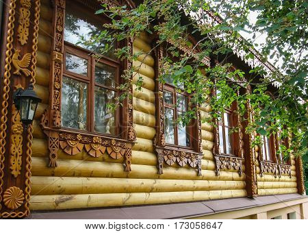 Wooden Carved Architectural Details In Suzdal, Vladimir Region, Russia