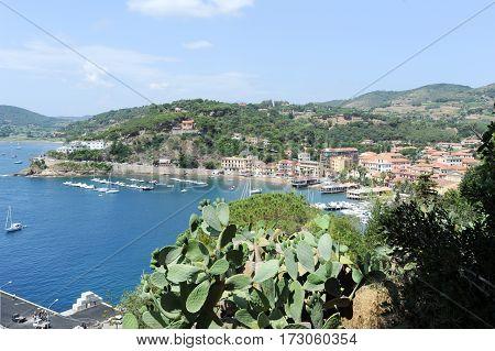 The coast at Porto Azzurro on Elba IslandTuscanyItaly