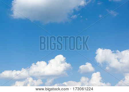 the blue sky with light white clouds
