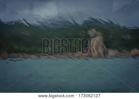 Rain On A Ferry Window