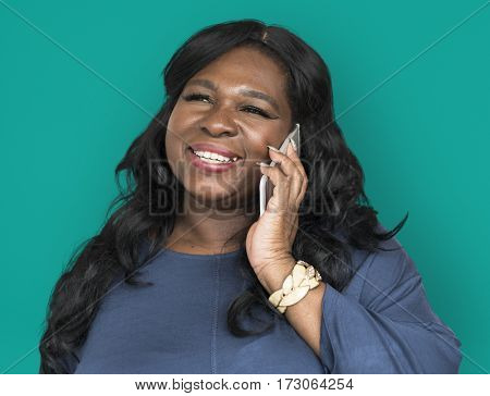 African Descent Woman Smiling Talking