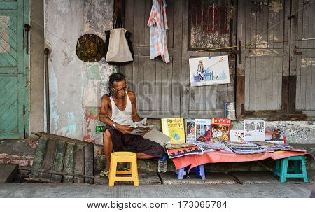 Street Life In Yangon, Myanmar