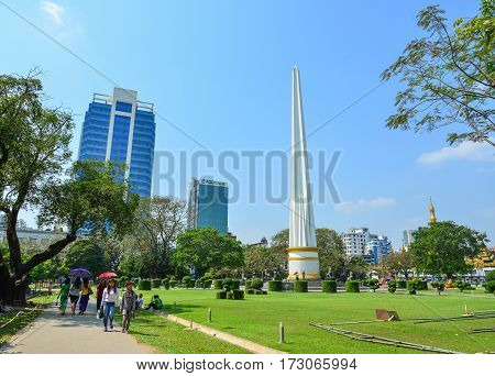 Independence Monument In Yangon, Myanmar