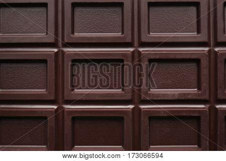 Chocolate bar, closeup